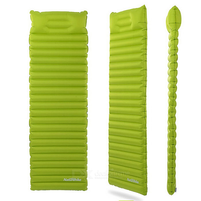 NatureHike Air Bag Type Inflatable Moistureproof Cushion - Light GreenSleeping Bags<br>Form  ColorPeak GreenQuantity1 DX.PCM.Model.AttributeModel.UnitMaterialChinlonBest UseFamily &amp; car camping,Backpacking,Camping,Mountaineering,Travel,FishingSleeping Pad TypeAir PadSleeping Pad ShapeSemi RectangularPacking List1 x Air pad1 x Elastic band<br>