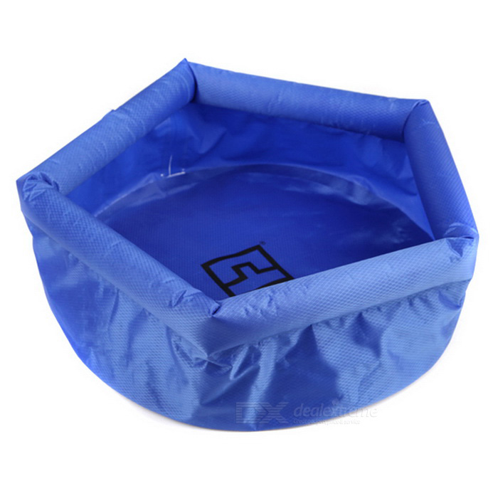 AoTu Outdoor Folding Washbowl for Cycling / Fishing - BlueForm  ColorBlueQuantity1 DX.PCM.Model.AttributeModel.UnitMaterial210T lattice clothBest UseCamping,Mountaineering,Travel,FishingTypeOthers,Folding basinPacking List1 x Washbowl<br>