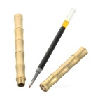 Bamboo Style Brass Polished Tactical Pen Tool - Brass