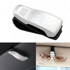 ZIQIAO Car Visor Sunglasses Ticket Clip Holder - Silver White + Black