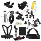 Pro 39-in-1 Basic Travel Kit for Gopro Hero 4/3+/3 - Black + Yellow
