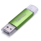 MAIKOU OTG 16 GB de memoria flash USB 2.0 de disco U - Verde