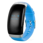 Fashion Smart Bluetooth Watch / Digital Voice Recorder w/ 4GB Memory - Black + Blue