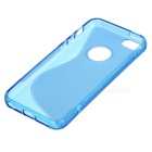 """S"" Pattern Protective TPU Back Case for IPHONE SE - Transparent Blue"