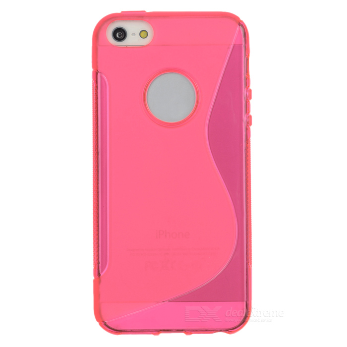 """S"" Pattern Protective TPU Back Case for IPHONE SE - Deep Pink"