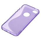 """S"" Pattern Protective TPU Back Case for IPHONE 5SE - Purple"