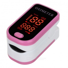 "1.3"" LED enkel puls oximeter - dyp rosa (2 * AAA)"