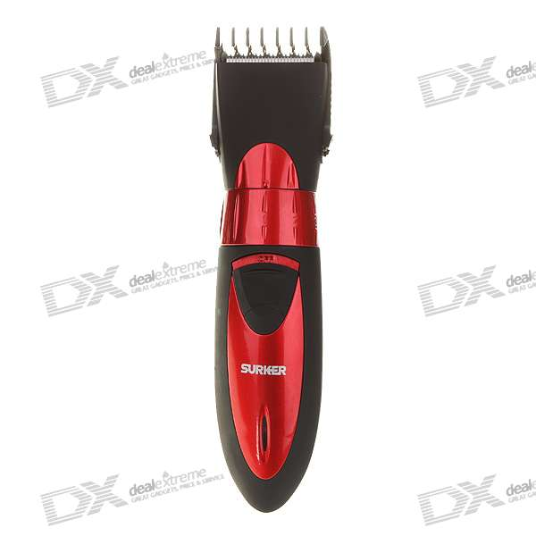 Waterproof Rechargeable 5-Mode Hair Trimmer with Accessories Set (220V AC) waterproof rechargeable hair trimmer with accessories set black red 220v ac