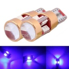 MZ T10 3W Blue LED Car Clearance Lamps/License Plate Lights Canbus