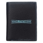 DBLO Men's Casual Folding PU Wallet - Black + Blue