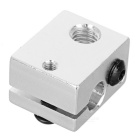 Extruder Heated Aluminium Alloy Block for 3D Printer - Silvery White