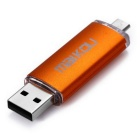Maikou 16GB serpentes micro USB OTG USB 2.0 flash drive - laranja