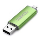 MaiKou 8GB Micro USB OTG USB 2.0 Flash Drive - зеленый