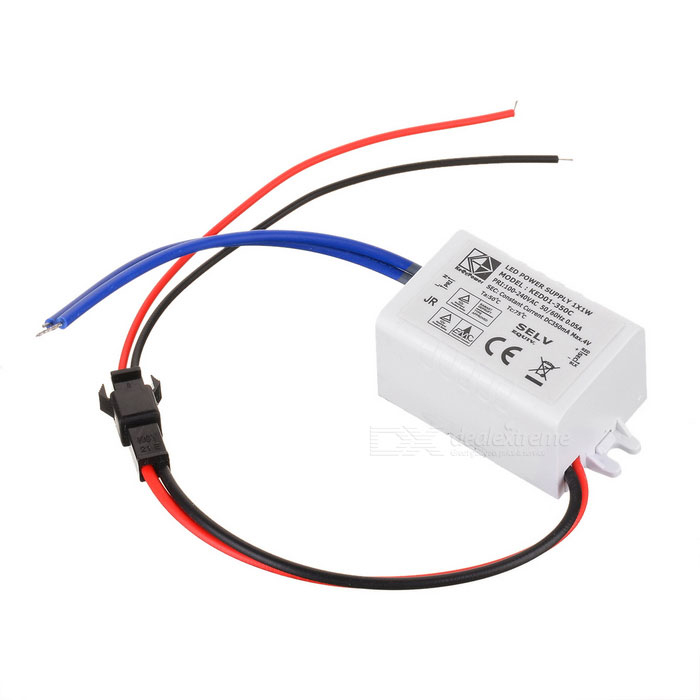 Waterproof 350mA 1W Power Constant Current Source LED Driver (85~265V) jlnke jkf60 waterproof 2 5a 60w constant voltage power source led driver grey 100 240v