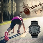 Wireless Heart Rate Monitor Men Women Fitness Sports Watch - Black