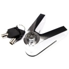 1409 CNC Aluminium Alloy  Lock for Motorcycle - Silver