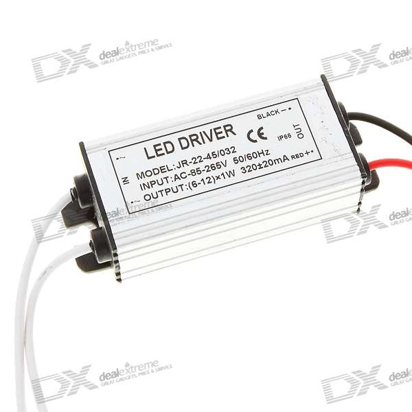 Waterproof 320mA 12W Power Constant Current Source LED Driver (85~265V)