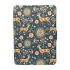 "Colored Drawing Sika Deer PU Case for 6"" Amazon Kindle - Blue + Orange"