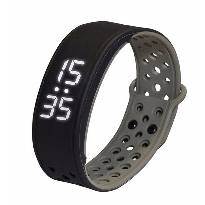 W9 Smart Band Wrist Sport Bracelet Pedometer Activity Tracker - Black