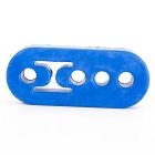 4-Hole Tubo de Escape silencioso Mount Holder Hanger - Azul