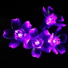Flower Starry String Lights 33ft 100 LED Decorative Light Purple Light