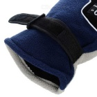 Outdoor Cycling Windproof Warm Fleece Gloves - Black + Sky Blue (Pair)