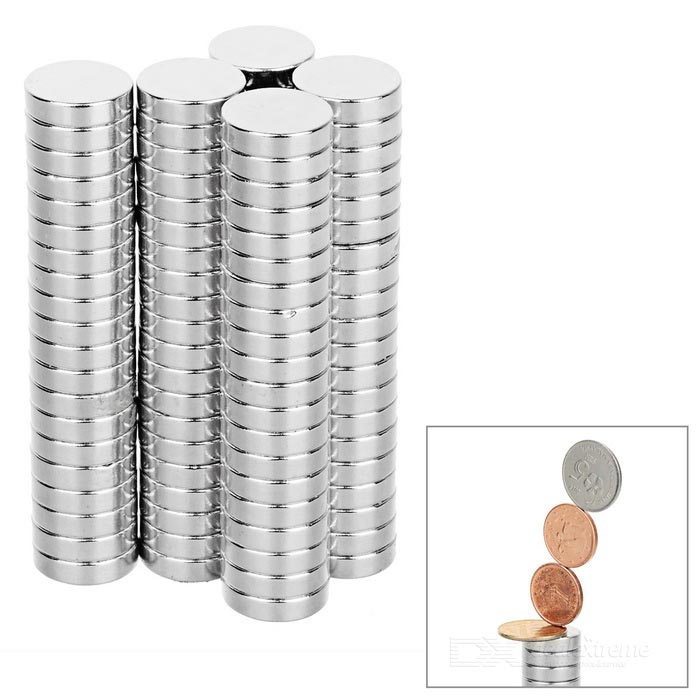 15*4mm Round NdFeB Magnet - Silver (100PCS)