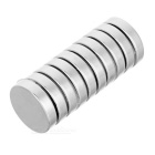 23*23*5mm Round NdFeB Magnet - Silver (10PCS)