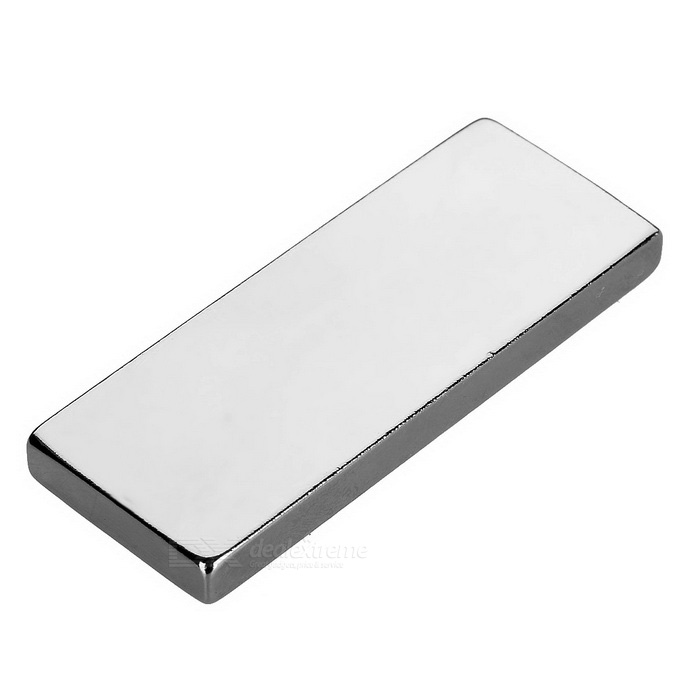 50 * 20 * 5 mm rectangular imán de NdFeB - plata