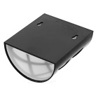 Impermeable 0.26W 6-LED luz blanca lámpara de pared solar - negro + blanco
