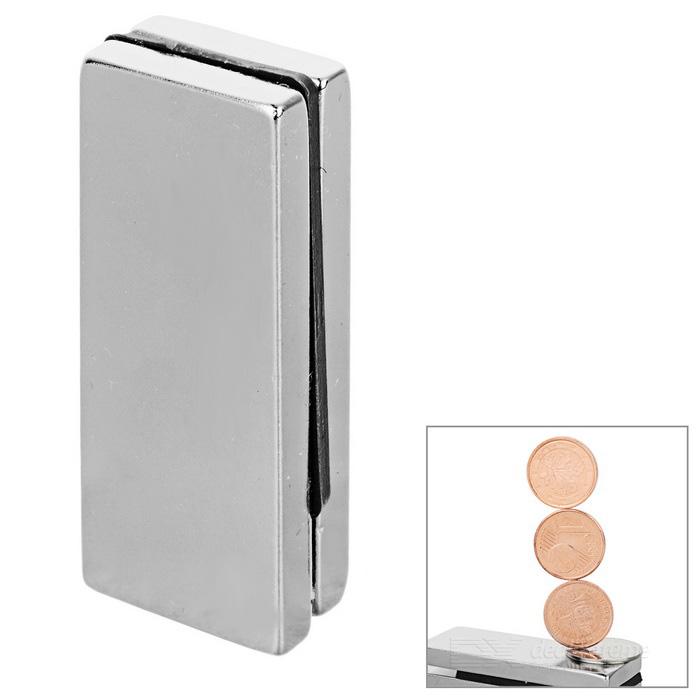 50*20*5mm Rectangular NdFeB Magnet - Silver (2PCS)