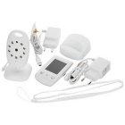 "E808 2.0"" LCD Wireless Digital Baby Monitor w/ Night Vision - White"