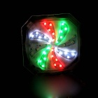 Windmill Style USB Powered Multi-color 5-Mode Bike Tail Light - Black