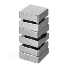 30 * 30 * 10mm Imán rectangular de NdFeB - Plata (6PCS)