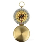 Multifunctional Outdoor Pocket Watch Style Luminous Compass - Golden