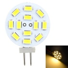 Marsing G4 3W LED Lamp Warm White 3000K 300lm 12-SMD 5730 Round Board - White + Yellow (AC/DC 12V)