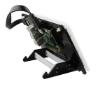 "Stander / Holder para 7"" Capacitive Touch Screen LCD - Branco + Preto"