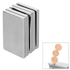 Rectangular Strong Magnetism 50*30*5mm NdFeB Magnet - Silver (5PCS)