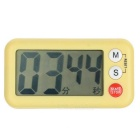 "2.6"" LCD Digital Kitchen Timer w/ Count Up / Down Function - Yellow"