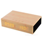 Shenle Wooden Bluetooth Speaker / Alarm Clock - Wood Color + Black