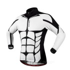 WOSAWE Spring / Autumn Long-Sleeve Cycling Jersey - Black + White (S)