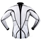 WOSAWE Spring Autumn Long-Sleeve Cycling Jersey - Black + White (XXL)