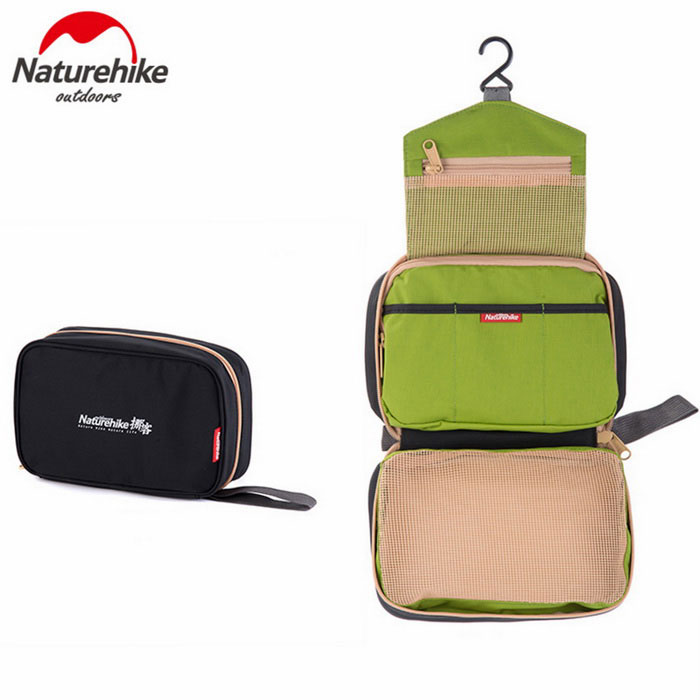 NatureHike Breathable Fabric Big Capacity Makeup Bag - Black