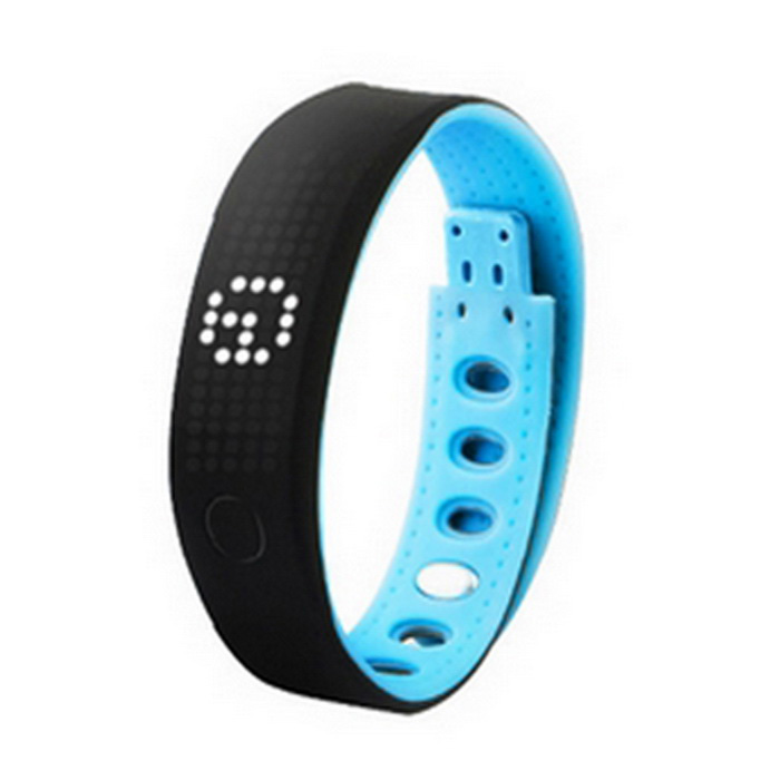 B17 Smart Bracelet Bluetooth V4.0 Health Wristband - Black + Blue