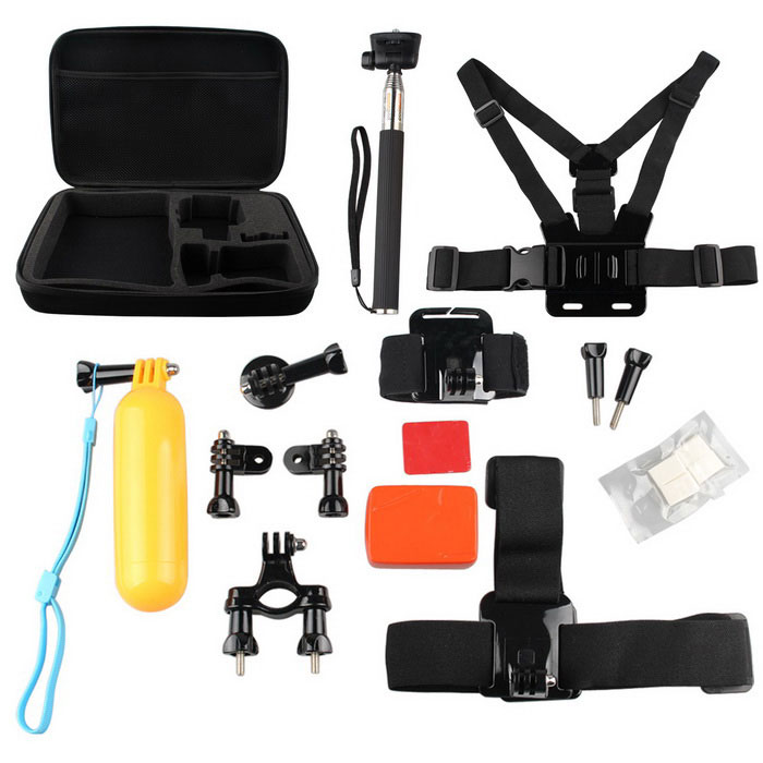 15-in-1 Kit di accessori per sport all'aria aperta per serie Hero GoPro - Nero