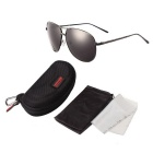 Reedoon S716 UV400 Protection Polarized Sunglasses - Gun Color + Gray