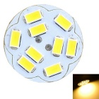 Marsing G4 2W 9-SMD 5730 200lm 3000K Round Board Warm White Light Lâmpada LED - Branco + Amarelo (12V)