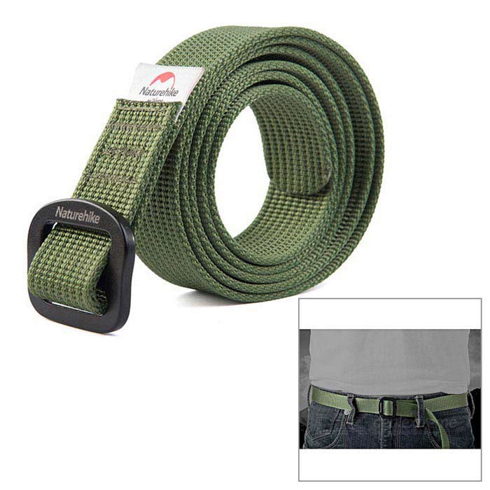 NatureHike Outdoor Quick-drying Nylon Belt - Army Green (130cm)Other Accessories<br>Form ColorArmy GreenQuantity1 DX.PCM.Model.AttributeModel.UnitMaterial100D nylon + 6061 aluminum alloySizeLBand Length130 DX.PCM.Model.AttributeModel.UnitPacking List1 x Belt<br>