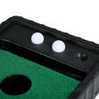 TOURLOGIC Golf Putting Mat w/o Electric - Green + Black