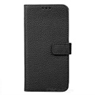 PU Leather Case w/ Holder Card Slot for Samsung Galaxy S7  - Black